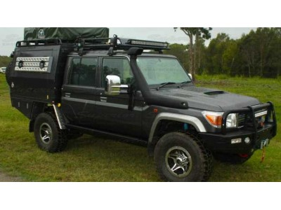 Superior Stealth Rock Slider Toyota Landcruiser 79 Series Dual Cab