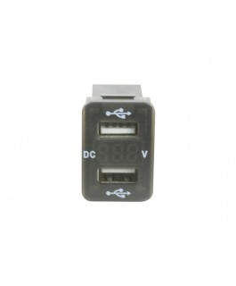 Superior Dual USB Charge with Voltage Meter Socket Suitable For Toyota Hilux Revo/Landcruiser 200 Series (Each)