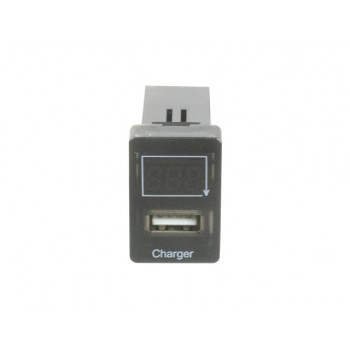 Superior USB Charge with Voltage Meter Socket Suitable For Toyota Hilux Revo/Landcruiser 200 Series