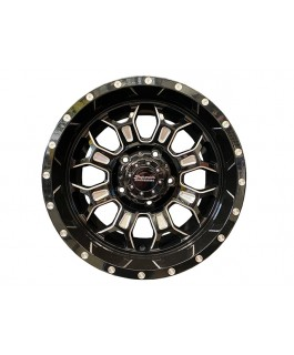 Superior Engineering Outback Wheel Gloss Black Milled 17x9 -12 Offset PCD5/150 (Each)