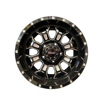 Superior Engineering Outback Wheel Gloss Black Milled 17x9 -25 Offset PCD5/150 (Each)