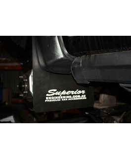 Superior Polyflex Mudflaps Suitable for Toyota Landcruiser 200 Series Front