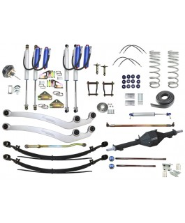 """Superior Outback Tourer™ Australia Wide Legal Leaf Sprung Remote Reservoir Radius Arm 4"""" Lift, 33""""-35"""" Tyres, Track Corrected Chromoly Diamond Diff, 4T GVM Suitable For Toyota Landcruiser 79 Series Gen 2 (VSC Models) (Fitted and Approved)"""