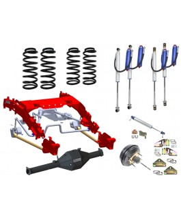 Superior Bolt in Coil Conversion VSB14 Approved Kit with Chromoly Diamond Diff Housing for Portals w/Remote Reservoir 2.0 Shocks (Front and Rear) Suitable For Toyota Landcruiser 79 Series Gen 1 (Non VSC Models)