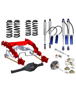 Superior Bolt in Coil Conversion VSB14 Approved Kit with Chromoly Diamond Diff Housing for Portals w/Remote Reservoir 2.5 Shocks (Front and Rear) Suitable For Toyota Landcruiser 79 Series Gen 1 (Non VSC Models)