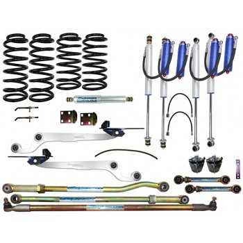 Superior Remote Reservoir Hybrid Dropped Radius 3 Inch Lift Kit Suitable For Nissan Patrol GU 2000 on Wagon