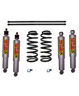 Superior 2 Inch Lift Kit Suitable For Toyota Landcruiser 100 Series IFS (Stage 2) with Tough Dog Shocks
