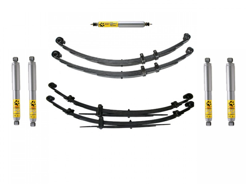 superior 2 inch lift kit suitable for nissan patrol mq with tough dog 41mm shocks