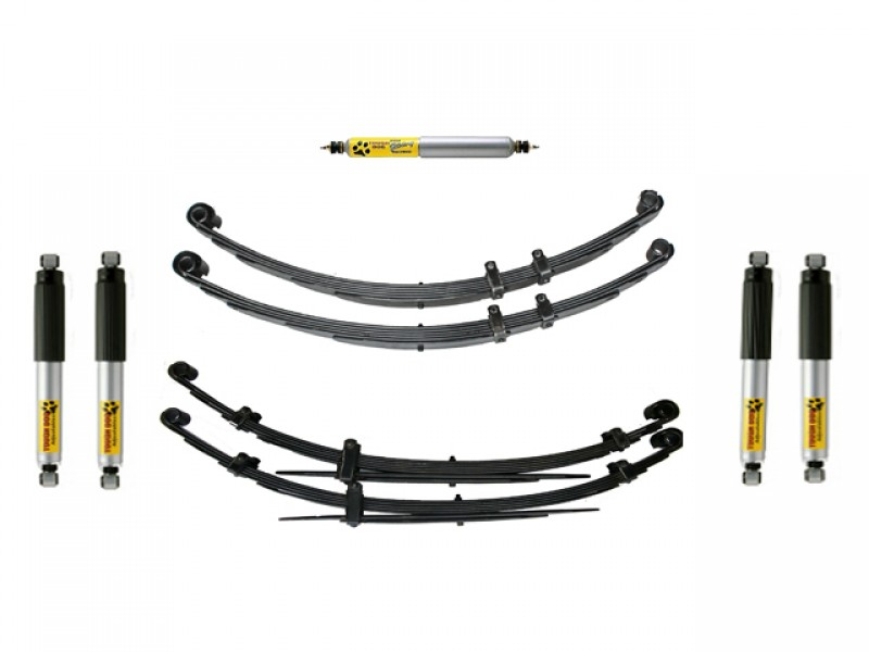 superior 2 inch lift kit suitable for nissan patrol mq with tough dog adj shocks