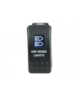 Rocker Switch Off-road Lights Blue Printed Lens