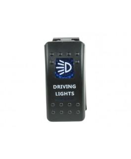 Rocker Switch Driving Lights Blue Printed Lens