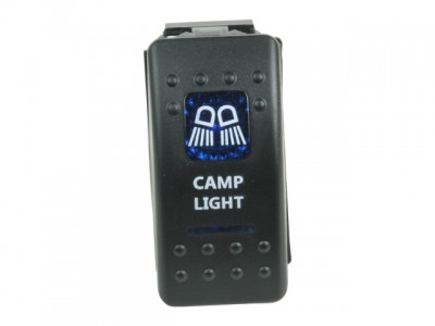 Rocker Switch Camp Light Blue Printed Lens