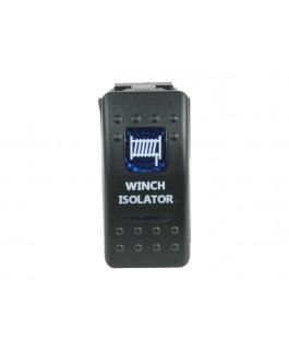 Rocker Switch Winch Isolator Blue Printed Lens