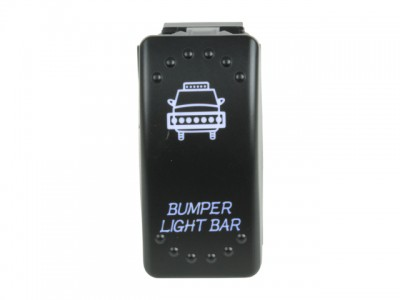 Rocker Switch Bumper Light Bars Blue LED