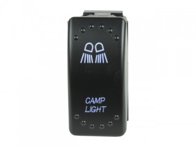 Rocker Switch Camp Light Blue LED