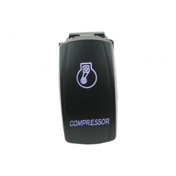 Rocker Switch Compressor Blue LED