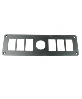 Superior Switch Panel 6 Way with Socket Alloy