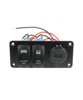 Superior Switch Panel with Dual Switches and USB/Voltmeter