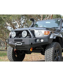 Uneek 4x4 Bull Bar Single Hoop Suitable For Toyota Landcruiser 76-78-79 Series 2007 on (Each)