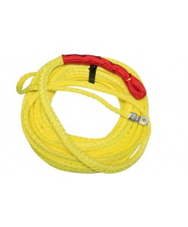 Winch Rope Polyurethane Coated 10mm x 30m Hi-Vis Yellow