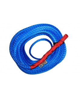 Winch Rope Polyurethane Coated 10mm x 30m Blue