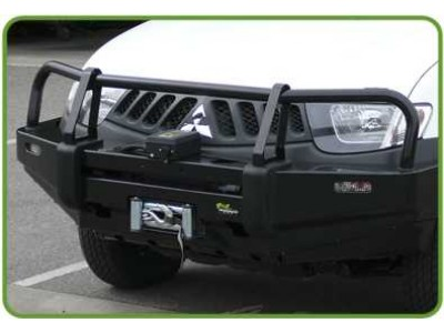Ironman 4x4 Black Commercial Bull Bar - Mitsubishi Triton ML (2006-2009)