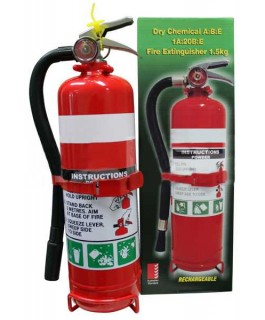 1.5kg Fire Extinguisher with Rubber Hose 2A:30B:E (Each)