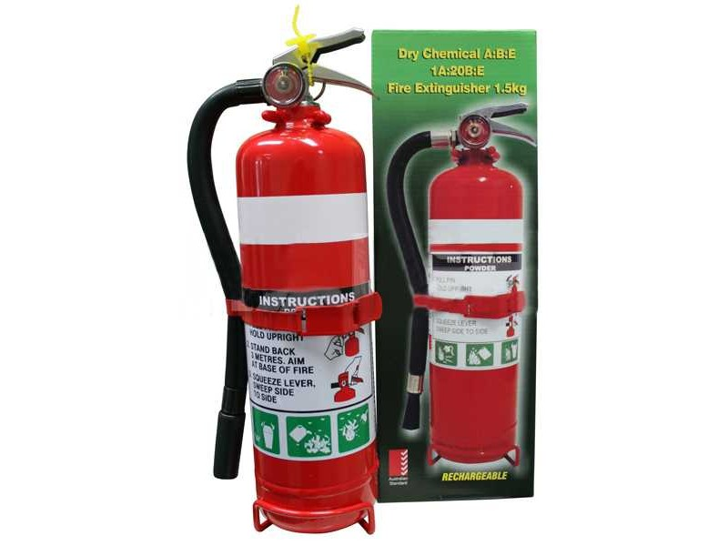 1 5kg Fire Extinguisher With Rubber Hose 2a 30b E