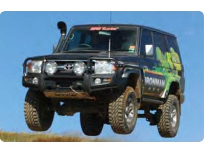 Ironman 4x4 Black Commercial Bull Bar - Suitable For Toyota Landcruiser 79/78/76 Series (V8)