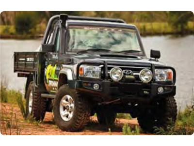 Ironman 4x4 Black Commercial Bull Bar - Suitable For Toyota Landcruiser 79/78/75 Series 6 cyl