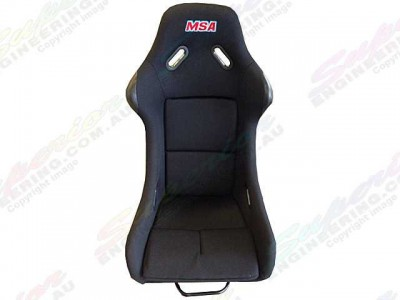 MSA Safety Racing Seat Fiberglass(Black)