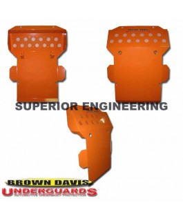 Brown Davis Sump/Steering Guard Suitable For Toyota Prado 90 Series