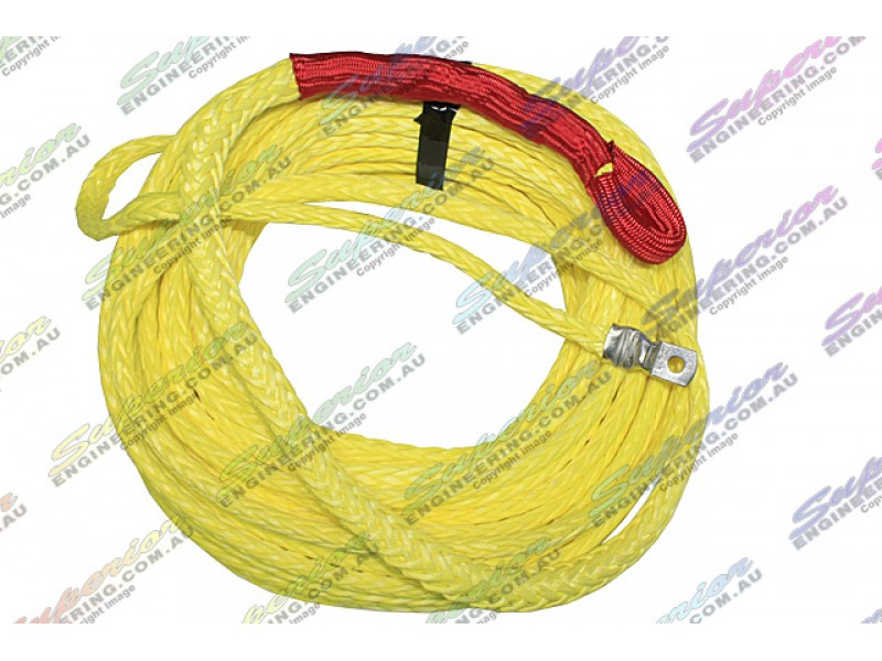winch rope polyurethane coated 10mm x 30m hi vis yellow superior engineering. Black Bedroom Furniture Sets. Home Design Ideas