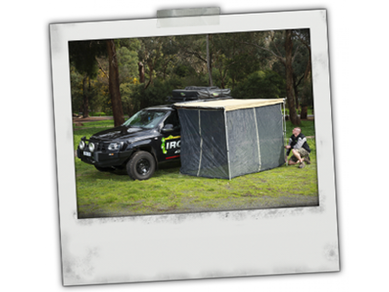 Ironman 4x4 Instant Awning Fly Screen Netting 1 4m X 2m