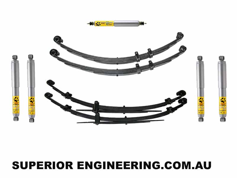 superior 2 inch lift kit nissan patrol mq with tough dog 41mm shocks