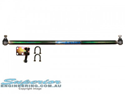 Superior Comp Spec Solid Bar Drag Link Nissan Patrol GQ Leaf Front Adjustable (Crossover Style)
