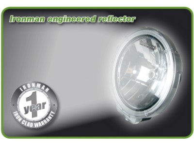 Ironman 4x4 Vega 100W Halogen 9 Inch Driving Lights (Pair)