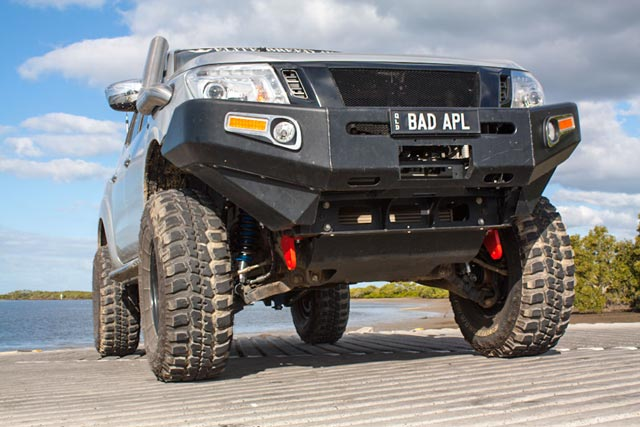 NP300 Navara fitted with a pair of Rated Recovery Points