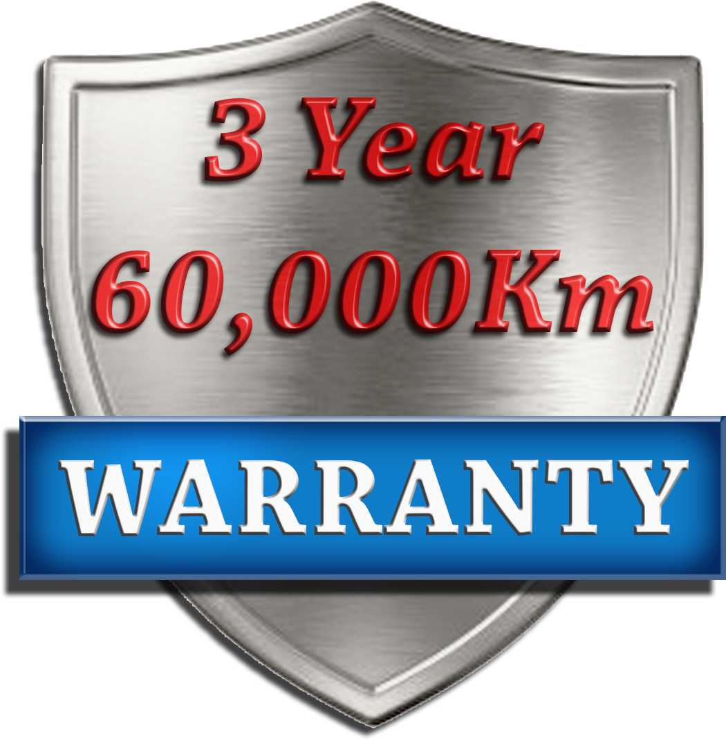 3 Year 60,000 Km Warranty Logo