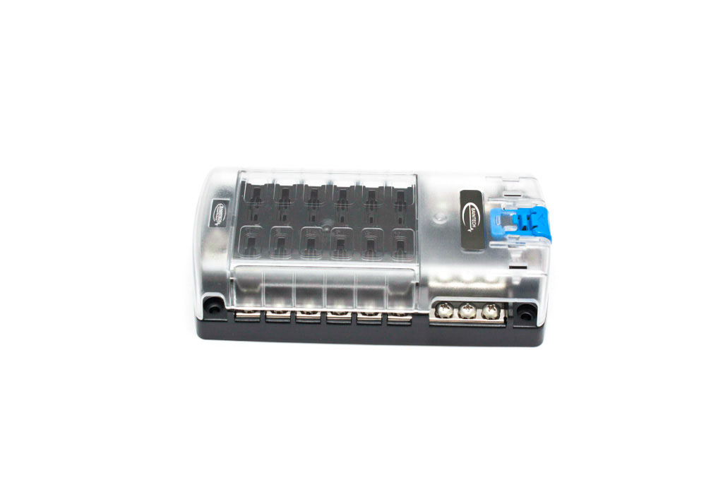 360 degree graphic of the Baintech 12 Way Fuse Block