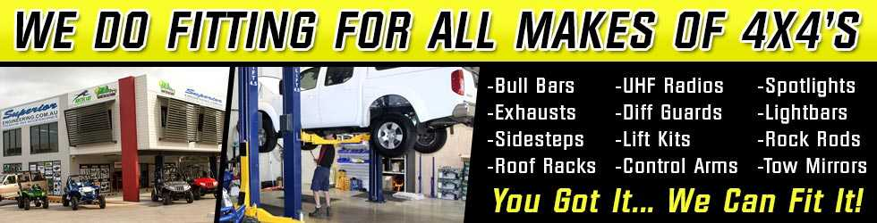 We offer a full fitting service for all makes and models of 4x4 vehicles