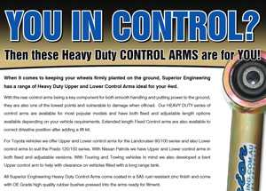 Superior Engineering Control Arms - Are You In Control?