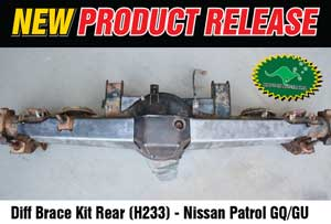 Diff Brace Kit Nissan Patrol GQ/GU H233 [Rear]