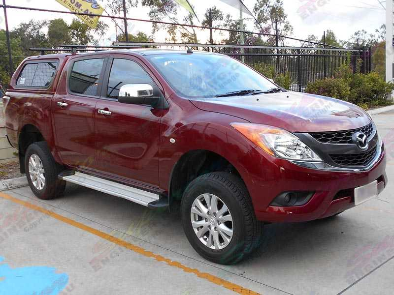 Right Side View Of A Current Model Maroon Mazda Bt