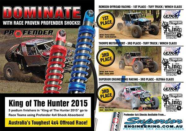 Dominate with race proven profender shocks - King of the Hunter 2015 Winners