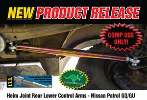 Heim Joint 4340M Rear Lower Control Arms - Nissan Patrol GQ/GU