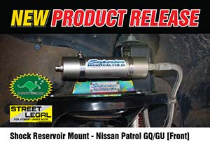 Remote Reservoir Shock Mounts - Nissan Patrol GQ/GU (FRONT)