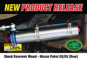 Remote Reservoir Shock Mounts - Nissan Patrol GQ/GU (REAR)