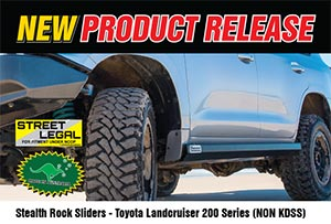 Stealth Rock Sliders - Toyota Landcruiser 200 Series