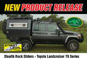 Stealth Rock Sliders - Toyota Landcruiser 79 Series
